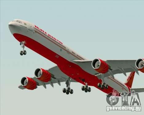 Airbus A340-600 Air India для GTA San Andreas вид справа