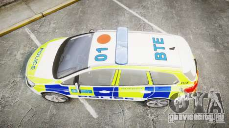 Vauxhall Astra Estate Metropolitan Police [ELS] для GTA 4 вид справа