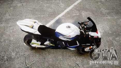 Suzuki GSX-R 1000 K10 для GTA 4 вид справа