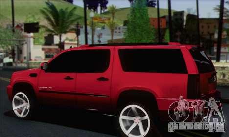Cadillac Escalade ESV для GTA San Andreas вид слева