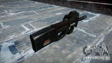 Пистолет-пулемёт Fabrique Nationale P90 silenced для GTA 4 второй скриншот