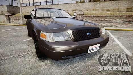 Ford Crown Victoria LASD [ELS] Unmarked для GTA 4