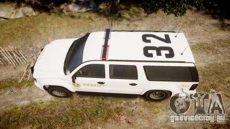 GTA V Declasse Granger LSS White [ELS] для GTA 4 вид справа