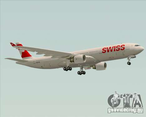 Airbus A330-300X Swiss International Air Lines для GTA San Andreas вид сверху