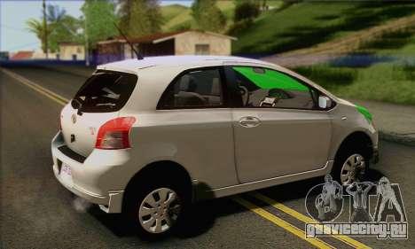 Toyota Yaris Shark Edition для GTA San Andreas вид слева
