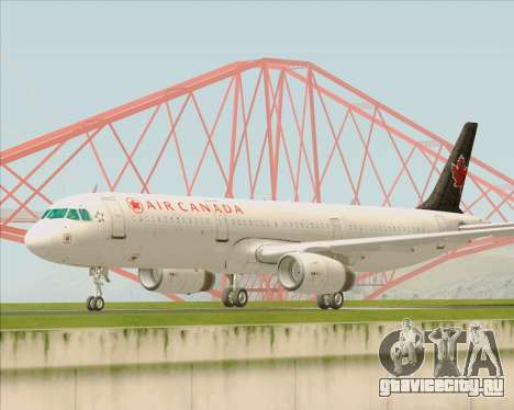 Airbus A321-200 Air Canada для GTA San Andreas вид слева
