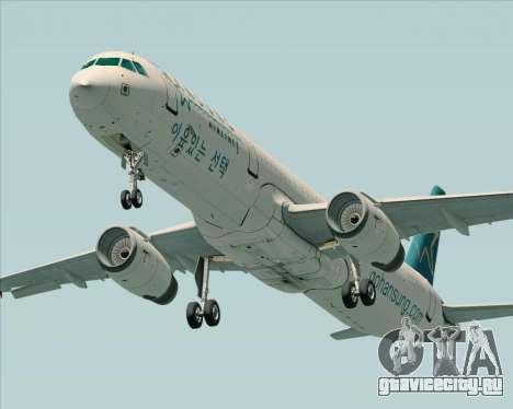 Airbus A321-200 Hansung Airlines для GTA San Andreas вид справа