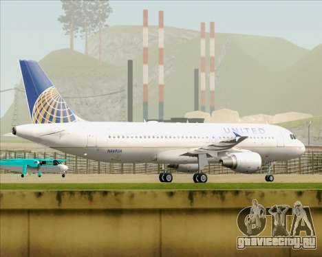 Airbus A320-232 United Airlines для GTA San Andreas вид сзади