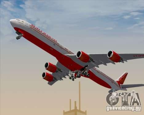 Airbus A340-600 Air India для GTA San Andreas двигатель