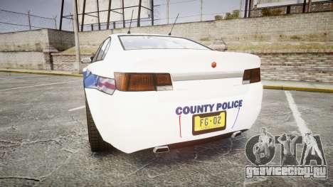 GTA V Cheval Fugitive LS Liberty Police [ELS] Sl для GTA 4 вид сзади слева