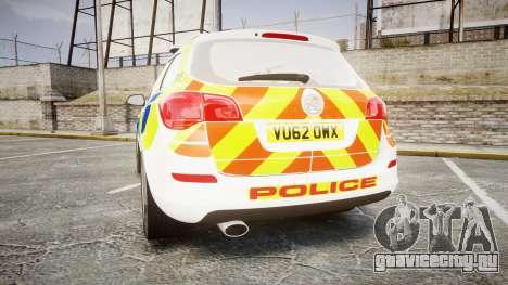 Vauxhall Astra Estate Metropolitan Police [ELS] для GTA 4 вид сзади слева