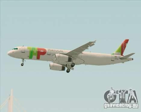Airbus A321-200 TAP Portugal для GTA San Andreas вид сверху