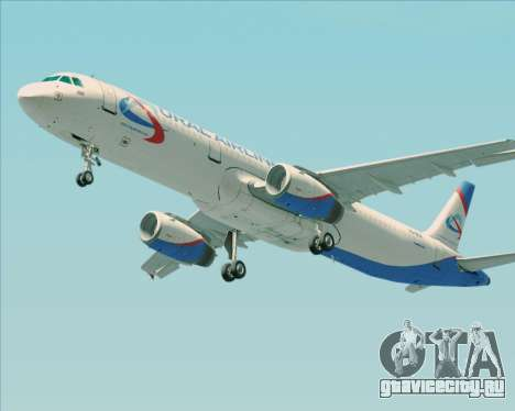 Airbus A321-200 Ural Airlines для GTA San Andreas колёса