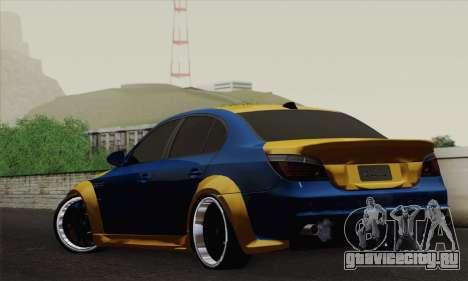 BMW M5 E60 Lumma для GTA San Andreas вид слева