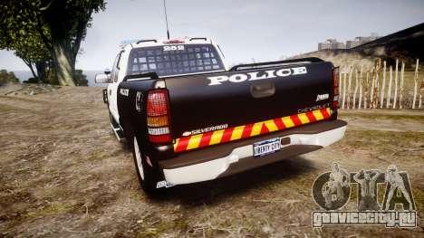 Chevrolet Silverado SWAT [ELS] для GTA 4 вид сзади слева