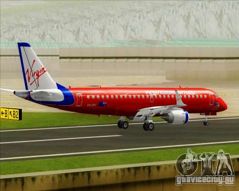 Embraer E-190 Virgin Blue для GTA San Andreas вид снизу
