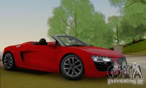 Audi R8 V10 Spyder 2014 для GTA San Andreas