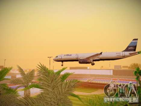 Airbus A321-232 Big Blue Bus для GTA San Andreas вид сверху