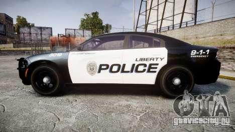 Dodge Charger 2015 LPD CHGR [ELS] для GTA 4 вид слева