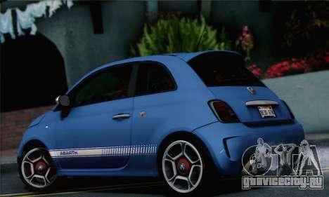 Fiat 500 Abarth 2008 для GTA San Andreas вид слева
