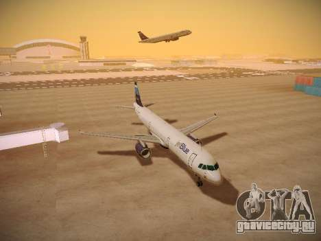Airbus A321-232 Big Blue Bus для GTA San Andreas вид изнутри