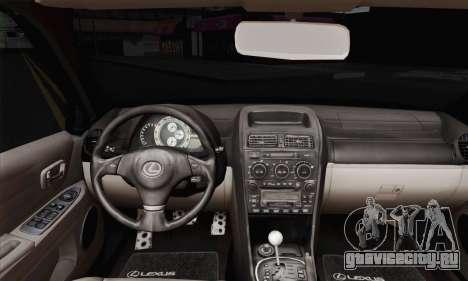 Lexus IS300 Hellaflush для GTA San Andreas вид сзади слева