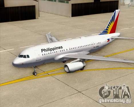 Airbus A319-112 Philippine Airlines для GTA San Andreas двигатель