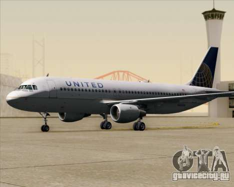 Airbus A320-232 United Airlines для GTA San Andreas вид сверху