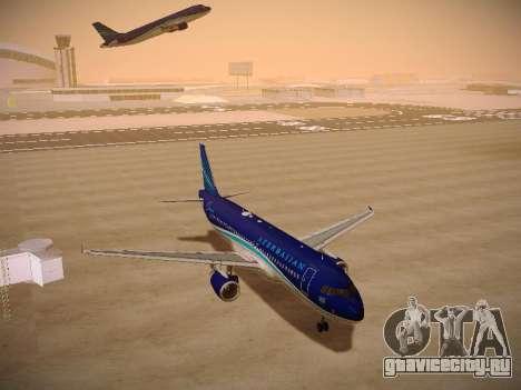 Airbus A320-214 Azerbaijan Airlines AZAL для GTA San Andreas вид сзади
