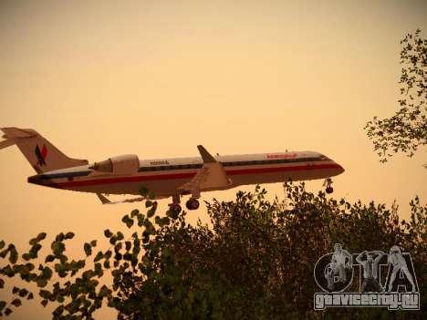 Bombardier CRJ-700 American Eagle для GTA San Andreas