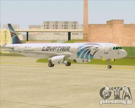 Airbus A321-200 EgyptAir для GTA San Andreas вид сверху