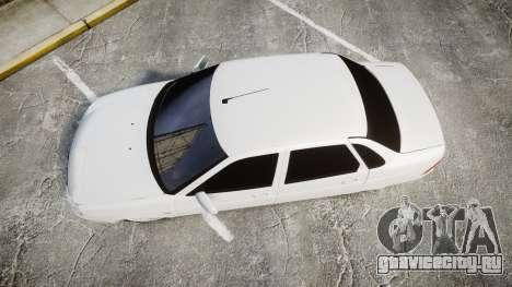 ВАЗ-2170 AMG выхлоп для GTA 4 вид справа
