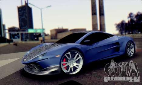 Shimmy Python 2012 для GTA San Andreas вид сзади слева