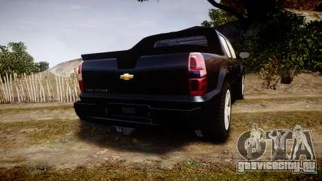 Chevrolet Avalanche 2008 Undercover [ELS] для GTA 4 вид сзади слева
