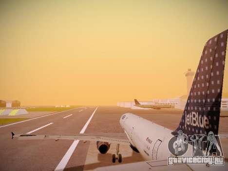 Airbus A321-232 jetBlue Woo-Hoo jetBlue для GTA San Andreas двигатель