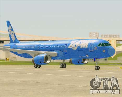 Airbus A321-200 Zoom Airlines для GTA San Andreas вид изнутри