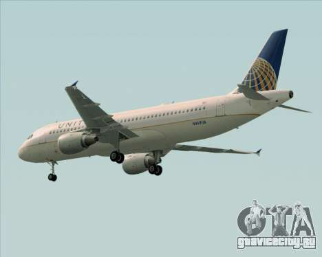 Airbus A320-232 United Airlines для GTA San Andreas вид сбоку