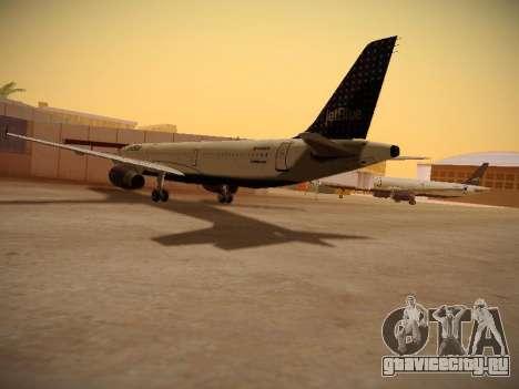Airbus A321-232 jetBlue Woo-Hoo jetBlue для GTA San Andreas вид справа