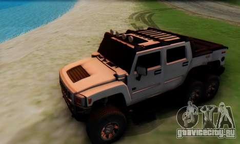 Hummer H6 Sut Pickup для GTA San Andreas вид сбоку