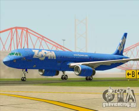 Airbus A321-200 Zoom Airlines для GTA San Andreas вид слева