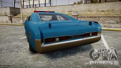 Imponte Dukes Police для GTA 4 вид сзади слева