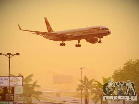 Boeing 757-236 British Airways для GTA San Andreas вид снизу