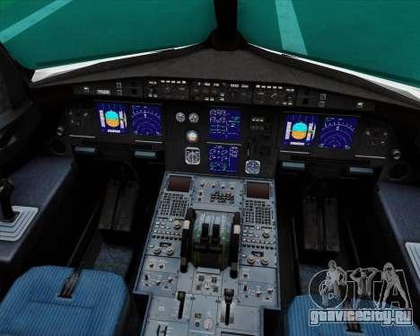 Airbus A321-200 Royal Jordanian Airlines для GTA San Andreas салон