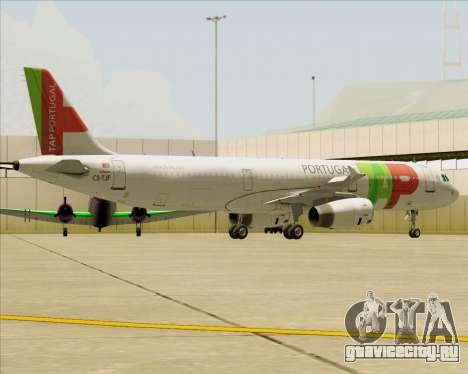 Airbus A321-200 TAP Portugal для GTA San Andreas колёса
