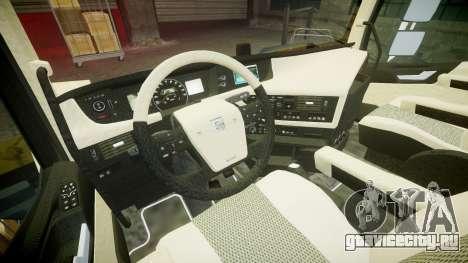 Volvo FH16 для GTA 4 вид сзади