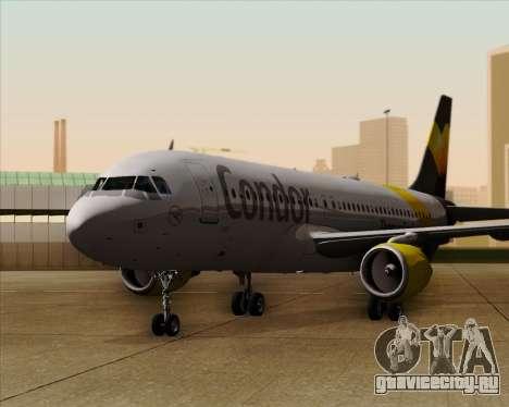 Airbus A320-212 Condor для GTA San Andreas вид снизу