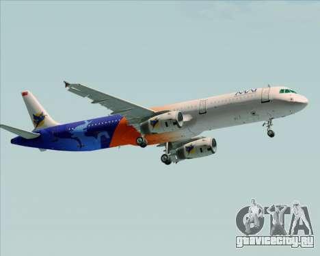 Airbus A321-200 Myanmar Airways International для GTA San Andreas вид сзади слева