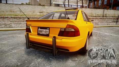 Karin Sultan Taxi для GTA 4 вид сзади слева