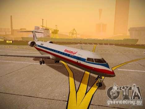 Bombardier CRJ-700 American Eagle для GTA San Andreas вид сзади слева