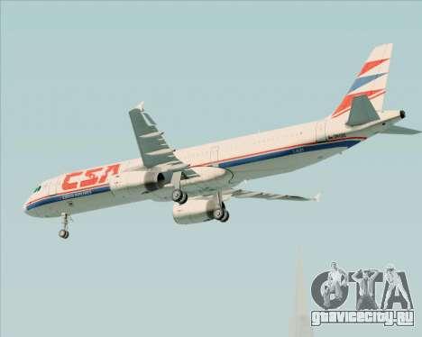Airbus A321-200 CSA Czech Airlines для GTA San Andreas вид снизу